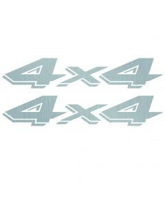 4x4 Decals for Dodge Dakota 1997-2000 silver 5JN44CA1AC