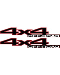 2010 2011 2012 2013 4x4 for Dodge Ram 2500 3500 Power Wagon 4WD Off Road Bedside Decals 5182412AA 55277438AA