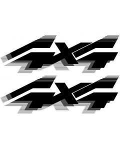 4x4 Truck Decal  - Black
