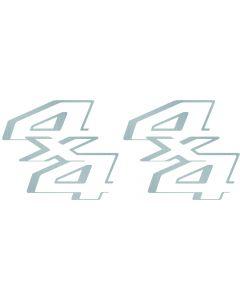 Replica 4x4 Decals for 2011-2014 Ford Super Duty F 250 F 350 Silver