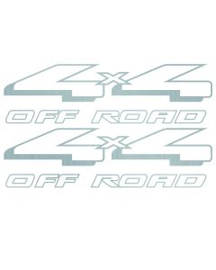 98 Ford F-150 F-250 4x4 OFF ROAD decals Silver