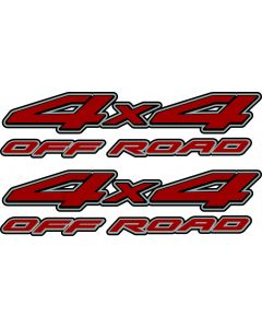 1997-2011 Nissan Frontier 4x4 Off road Decal RED