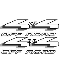 98 Ford F-150 F-250 4x4 OFF ROAD decals Black